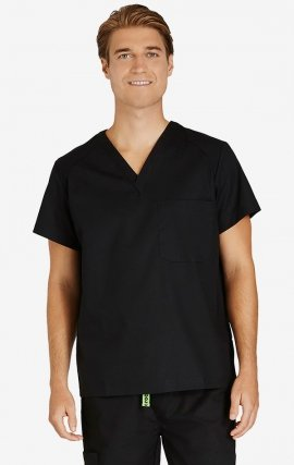 CTM-7001R Crocs Blake Men's Scrub Top - Black