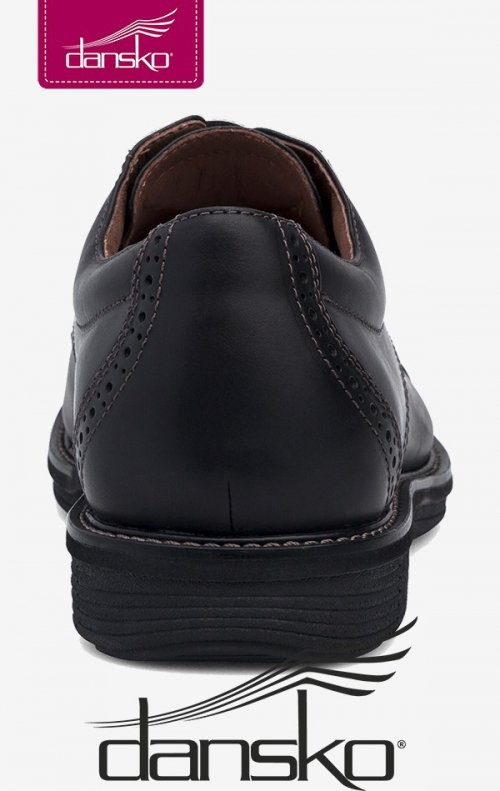 c044caa3074bf5 Dansko Men s Lace-Up Shoes - Justin Black Oiled Nubuck Leather ...