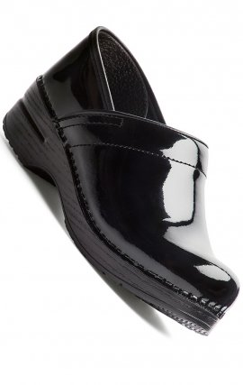 PRO LARGE par Dansko (aux femmes) - Black Patent Leather