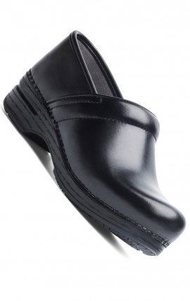 WIDE Pro XP  Black Cabrio Leather Dansko Clogs