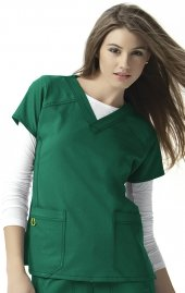 6214 WonderWink Four-Stretch V-neck Scrub Tops