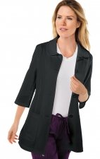 446 Koi Amber 3/4 Sleeve Women's Lab Coats - Black