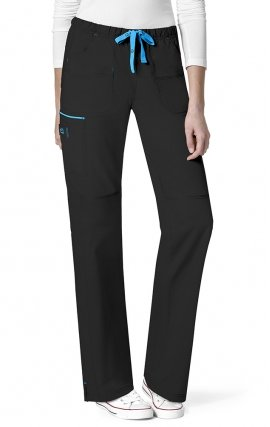 5508 WonderFlex Joy Cargo Straight Leg Scrub Pants - Black