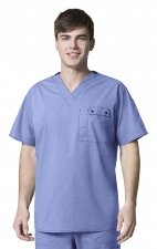 6618 WonderFlex Honor Men's Utility Media Tops - Ceil Blue
