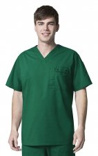 6618 WonderFlex Honor Men's Utility Media Tops - Hunter Green
