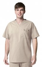 6618 WonderFlex Honor Men's Utility Media Tops - Khaki