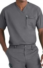 6618 WonderFlex Honor Men's Utility Media Tops - Pewter
