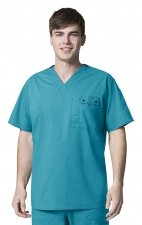 6618 WonderFlex Honor Men's Utility Media Tops - Real Teal