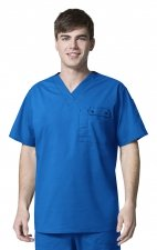 6618 WonderFlex Honor Men's Utility Media Tops - Royal