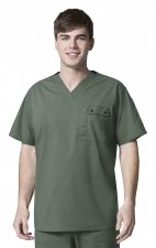 6618 WonderFlex Honor Men's Utility Media Tops - Sage
