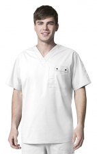6618 WonderFlex Honor Men's Utility Media Tops - True White
