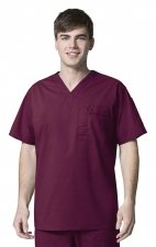 6618 WonderFlex Honor Men's Utility Media Tops - Wine