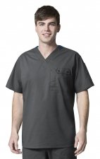 6618 WonderFlex Honor Men's Utility Media Tops - Charcoal