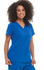 2304 Healing Hands Purple Label Joni V-neck 3 Pocket Scrub Tops - Royal