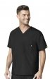 6006 WonderWink Origins Alpha Unisex Scrub Tops - (Men's View) - Ceil Blue