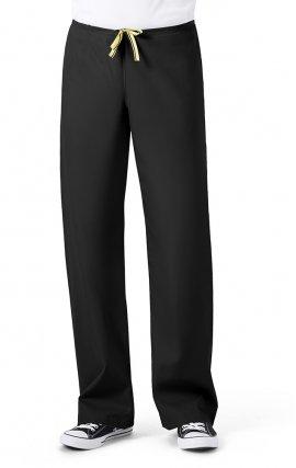 5006 WonderWink Origins Papa Unisex Drawstring Scrub Pants - Black