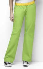 5016 WonderWink Origins Quebec Elastic Waistband Scrub Pants - Green Apple