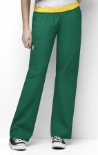 5016 WonderWink Origins Quebec Elastic Waistband Scrub Pants - Hunter Green