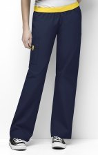 5016 WonderWink Origins Quebec Elastic Waistband Scrub Pants - Navy