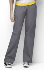 5016 WonderWink Origins Quebec Elastic Waistband Scrub Pants - Pewter
