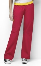 5016 WonderWink Origins Quebec Elastic Waistband Scrub Pants - Red