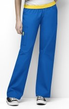 5016 WonderWink Origins Quebec Elastic Waistband Scrub Pants - Royal