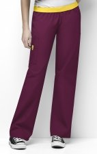 5016 WonderWink Origins Quebec Elastic Waistband Scrub Pants - Wine
