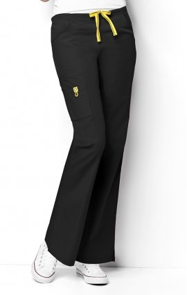 5026 WonderWink Origins Romeo Women's Scrub Pants - Black