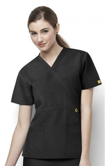 6056 Wonderwink Golf Mock Wrap Scrub Top