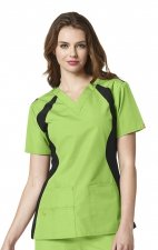 6096 WonderWink Origins Lima V-neck Scrub Tops - Green Apple