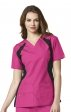 6096 WonderWink Origins Lima V-neck Scrub Tops - Black