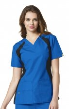 6096 WonderWink Origins Lima V-neck Scrub Tops - Royal