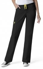 5066 WonderWink Origins Victor Straight Leg 9 Pocket Scrub Pants - Black