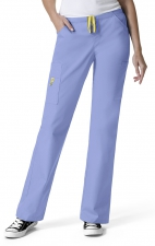 5066 WonderWink Origins Victor Straight Leg 9 Pocket Scrub Pants - Ceil Blue