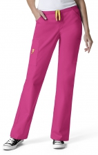 5066 WonderWink Origins Victor Straight Leg 9 Pocket Scrub Pants - Hot Pink