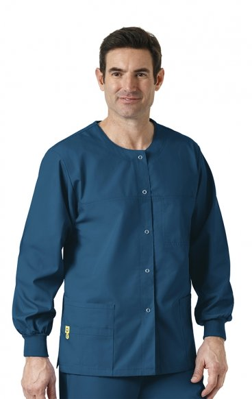 8006 WonderWink Origins Delta Unisex Round Neck Scrub Jackets - (Men's View)