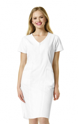 9006 WonderWink Origins Semi-functional Zip Front Short Sleeve Dress