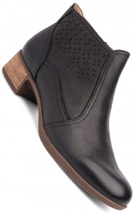 Liberty Boots in Black Burnished Nappa by Dansko