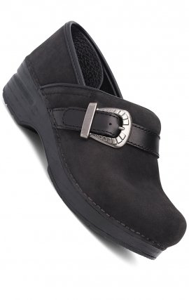 Pammy Black Milled Nubuck Leather - The Professional by Dansko (Women's) -