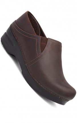 Women's Pepper Clogs in Pepper Antique Brown Oiled Leather Leather by Dansko