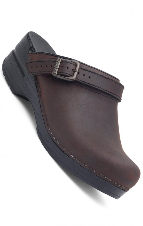 Dansko Women's Ingrid Clogs - Antique Brown Oiled Leather ...
