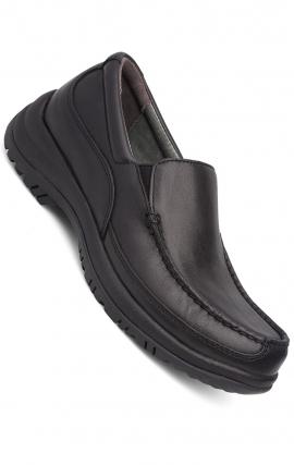 Wayne Slip-Ons Black Full Grain Leather - Dansko Men's