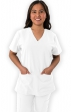 1201 Greentown's 4 Flex 2 Pocket V-neck Scrub Tops