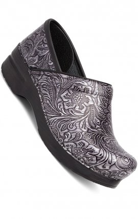 Grey Tooled Patent Leather - The Professional by Dansko (Women's)