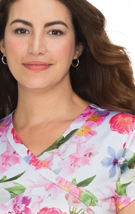 372PR Mariposa koi Paulina Print Scrub Top - Beautiful Life