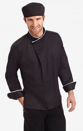 CC270 MOBB Contrast Mandarin Chef Coat - Men's View