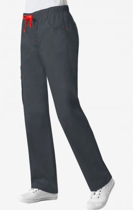 9302 Maevn Blossom - Charcoal XL Triple Pin Tuck Multi Pocket Utility Cargo Pant