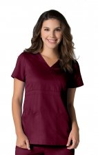 1748 Maevn Scrubs EON Active Back Mesh Panel Mock Wrap Top