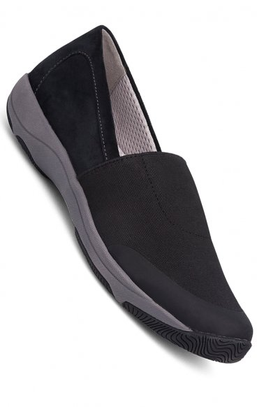 *FINAL SALE Harriet Sneakers in Black/Stretch Suede Leather by Dansko - (Women's)