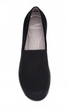 Harriet Sneakers in Black/Stretch Suede Leather by Dansko - (Women's)